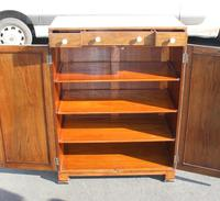 1940s Walnut Tallboy with Good Inlay Detailing (4 of 4)