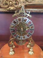 Antique Single Fusee Inlaid Skeleton Clock (3 of 10)