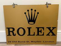 Rolex Shop Front Adverting Heavy Swinging Sign Mayfair London (6 of 27)