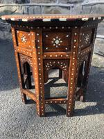 Antique Anglo Indian Hoshiarpur Folding Coffee Table (4 of 5)