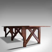 Large 12' Antique Kitchen Table, English, Pine, Industrial, Victorian, 1900 (3 of 12)