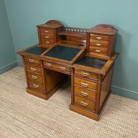 High Quality Maple & Co Antique Victorian Pedestal Desk (9 of 11)