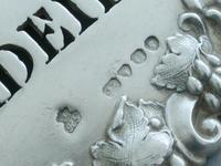 Victorian Cast Silver Bacchus Mask Wine Label 'Madeira' (9 of 10)