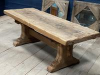 Superb Very Rustic French Oak Bleached Oak Farmhouse Dining Table (6 of 32)