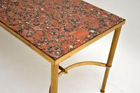 1960's Vintage Italian Brass & Marble Coffee Table (9 of 9)