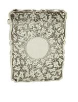 Antique Victorian Sterling Silver Card Case 1886 (2 of 9)