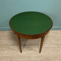 Stunning Demi Lune Mahogany Antique Card / Games Table (5 of 7)