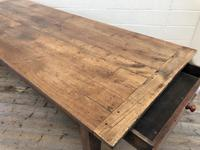 Large Antique French Fruitwood Farmhouse Table (11 of 19)