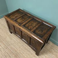 17th Century Period Oak Antique Carved Coffer (3 of 8)