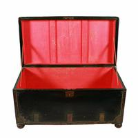 Georgian Leather Bound Campaign Trunk (4 of 8)