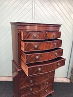 Quality Mahogany Serpentine Chest on Chest (2 of 11)