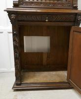 Pair of French Carved Gothic Oak Bookcases (6 of 12)