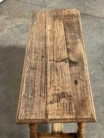 French Rustic Bleached Oak Coffee Table (4 of 17)