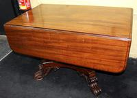 William IV Mahogany Drop Leaf Centre Table
