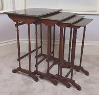 Stunning 19th Century Mahogany Nest of Four Tables (2 of 7)