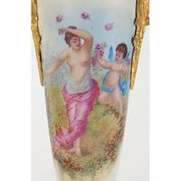 Large Pair of French Porcelain Vases with Gilt Bronze Mounts (5 of 5)