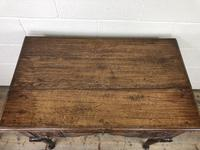 Antique 19th Century Carved Oak Lowboy Side Table (10 of 17)