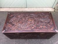 Antique Oriental Brass Bound Camphor Trunk (4 of 10)