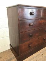 Victorian Oak Straight Front Chest of Drawers (5 of 7)