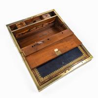 Superb William IV Brass Inlaid Kingwood Writing Box by Edwards (5 of 17)