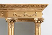 Late 19th Century Large Victorian English Gilt Triple Plate Overmantle Mirror (10 of 12)