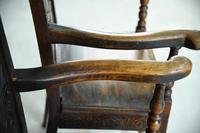 Pair of 17th Century Style Oak Armchairs (5 of 9)