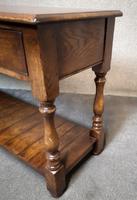Reproduction Oak Dresser Base / Oak Side Table (8 of 10)