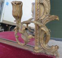 19th Century Decorative Gilt-framed Pier Mirror with Shelf (4 of 6)