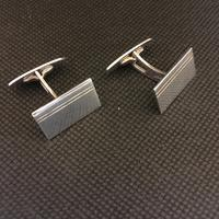 Danish Sterling Silver Cufflinks. 1950s by Firma Silver Cove (3 of 4)