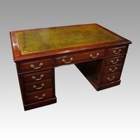 Edwardian mahogany large pedestal desk (4 of 14)