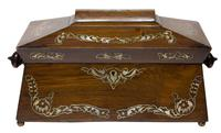 Beautiful Early 19th Century Mother of Pearl Tea Caddy (5 of 8)