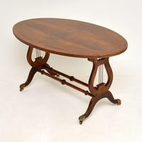 Regency Style Flame Mahogany Coffee Table (3 of 9)