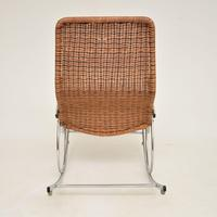 1970's Vintage Rattan & Chrome Rocking Chair (12 of 12)