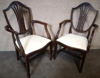 Set of Eight '6+2' Mahogany Dining Chairs in the Hepplewhite Style (13 of 15)