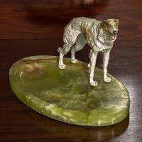 Cold Painted Bronze Borzoi Desk Companion (3 of 7)