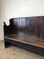 Rustic Antique Country Oak Settle Bench (10 of 14)