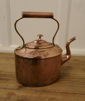 Charming 19th Century Oval Copper Kettle (3 of 5)