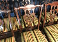 Set of Ten Georgian Style Mahogany Dining Chairs (10 of 13)