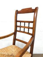 19th Century Rush Seat Rocking Armchair (3 of 9)