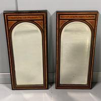 Pair of Amboyna & Ebonised Pier Mirrors (7 of 9)