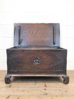 Antique Oak Coal Box or Scuttle (4 of 11)