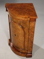 Extremely Rare Mid 19th Century  Burr Walnut Corner Standing Cupboard (3 of 5)