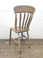 Pair of Antique Slat Back Farmhouse Kitchen Chairs (9 of 9)