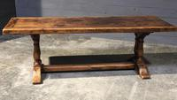 Wonderful French Chestnut Farmhouse Refectory Dining Table (15 of 37)