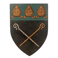 Six Edwardian Heraldic Shield Plaques (5 of 8)