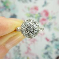 Vintage 18ct Platinum diamond cluster ring c.1960s (8 of 11)