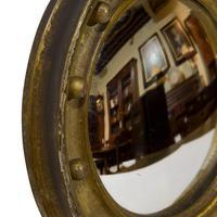 Pair of 19th Century Miniature Gilt Convex Mirrors (5 of 5)