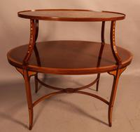 Mahogany Etegair with Marquetry Inlay (8 of 11)