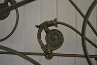 Antique Victorian Brass & Iron King Size 5ft Bedstead (9 of 14)
