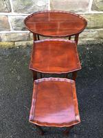 Antique Mahogany Nest of 3 Tables (5 of 8)
